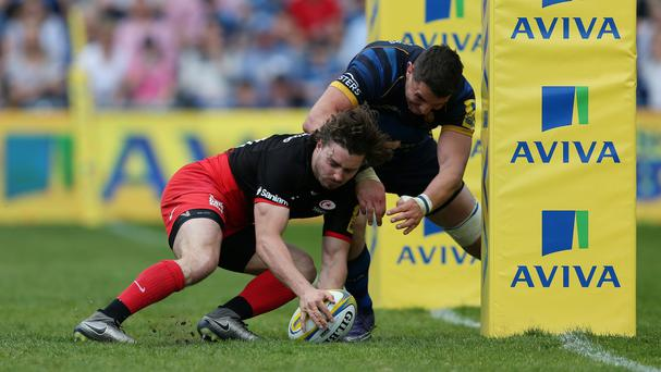 Ben Ransom was one of the try-scorers as Saracens beat Worcester