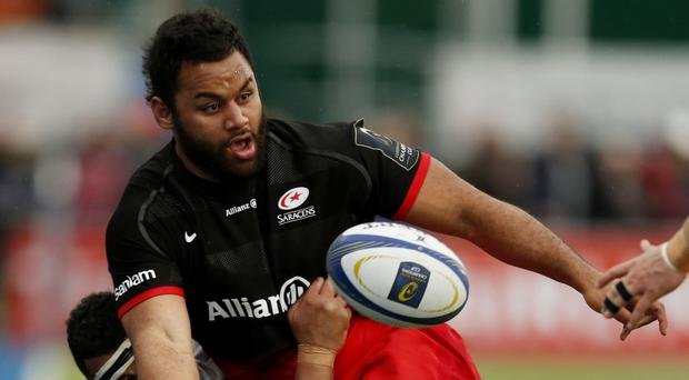 Billy Vunipola and Saracens are chasing the first leg of a trophy double
