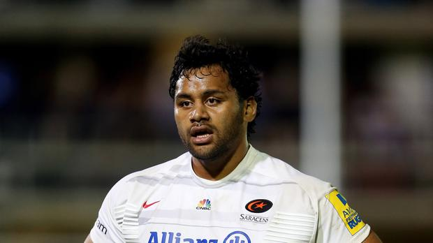 Saracens' Billy Vunipol helped his side with the European Champions Cup