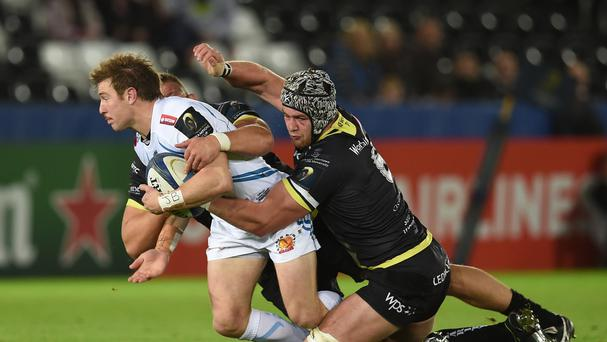 Exeter scrum-half Will Chudley (left) is free to play in Saturday's Aviva Premiership final against Saracens