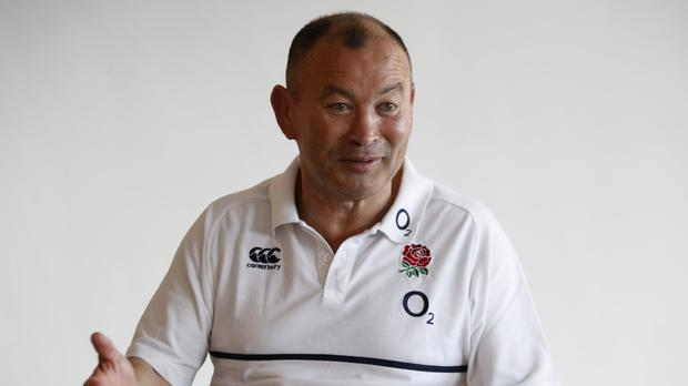 Eddie Jones has a crack at rugby league