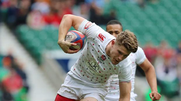 Phil Burgess was in action for Great Britain at the sevens in Moscow