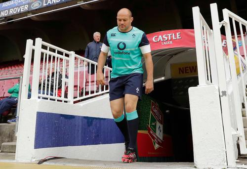 Walk this way: Rory Best is aiming to lead Ireland to their first ever win in South Africa