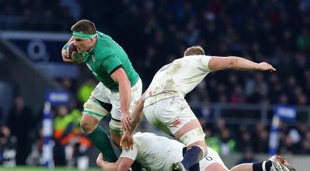 Ireland's CJ Stander (left) will miss the second Test against South Africa after being banned for one week