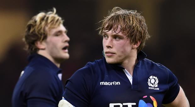 Jonny Gray, right, rejoins brother Richie in Scotland's second row