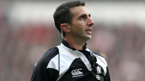 Craig Joubert, pictured, will have an extra visitor for his meeting with England's Eddie Jones