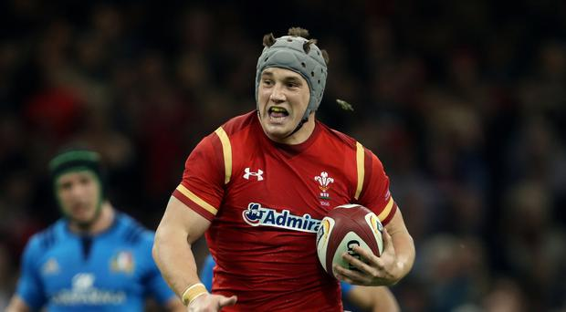 Jonathan Davies scored a try but it was not enough for Wales
