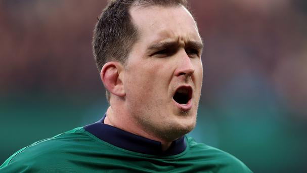 Ireland's Devin Toner scored in the loss at Johannesburg.