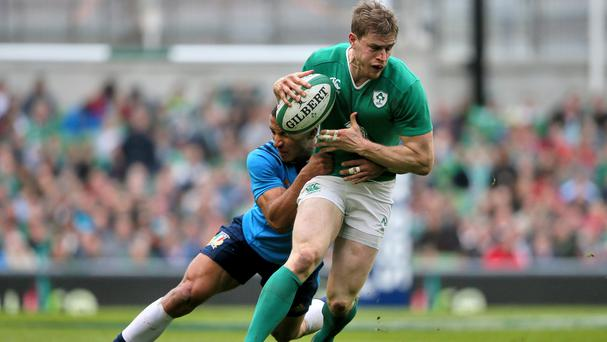 Andrew Trimble, right, wants Ireland to finish the job in South Africa on Saturday