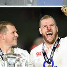 James Haskell (right) has praised England captain Dylan Hartley (left)