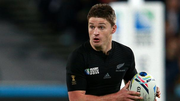 Beauden Barrett was on kicking duty for the Hurricanes
