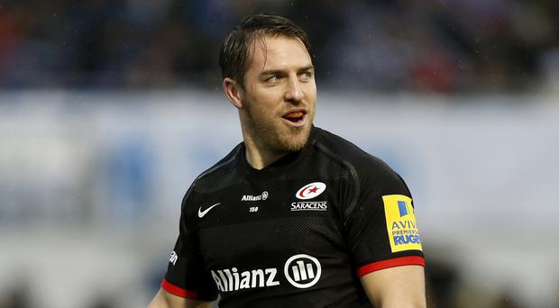 Saracens wing Chris Wyles, pictured, will be part of a United States men's sevens squad for the Rio Olympics that also includes NFL star Nate Ebner