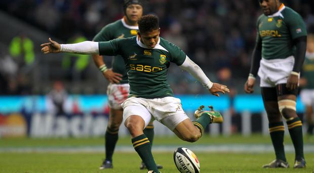 Springbok Elton Jantjies had a succesful afternoon with the boot as Lions thrashed Crusaders