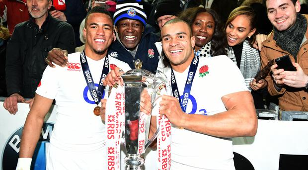 Anthony Watson, left, and Jonathan Joseph have signed new contracts at Bath