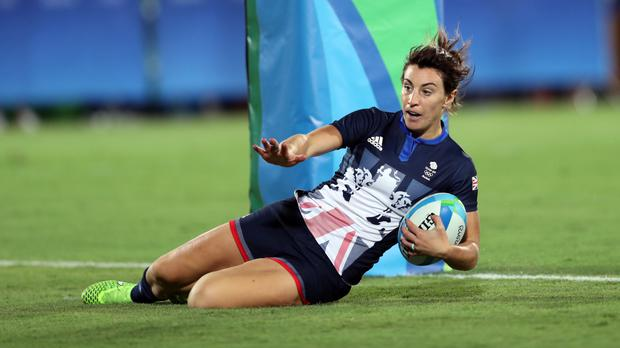 Alice Richardson scored a try for Great Britain as they suffered a semi-final defeat against New Zealand in the Olympic women's rugby sevens