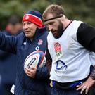 Joe Marler's mental struggles led to a tough conversation with England coach Eddie Jones, left