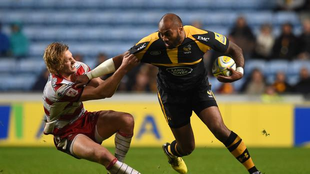 Sailosi Tagicakibau, right, has left Wasps due to personal reasons