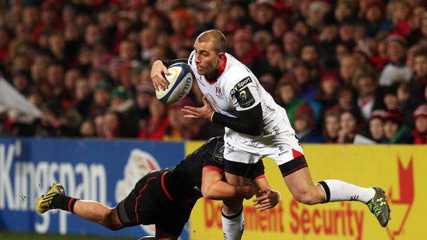 Ruan Pienaar (right) scored 12 points in Ulster's win at Treviso