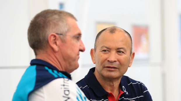 Eddie Jones (right) is learning from other sports