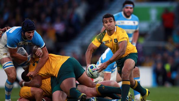 Will Genia scored two tries in Australia's win over Argentina in Perth