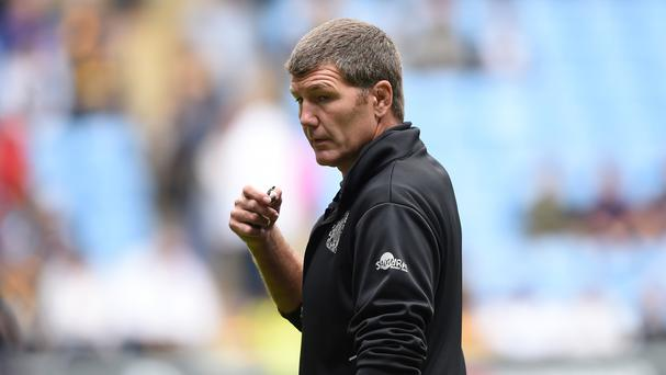 Exeter Chiefs head coach Rob Baxter was relived after victory over Harlequins
