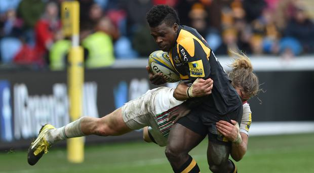 Christian Wade was one of three Wasps players to score twice