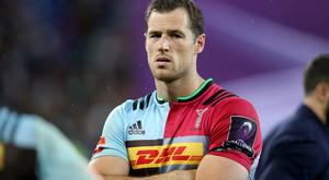 Harlequins' Tim Visser scored a try in the 17-10 victory over Saracens