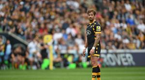 Wasps' Danny Cipriani left the field with a head injury