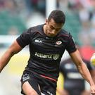 Saracens' Alex Lozowski celebrated his England call with a couple of tries