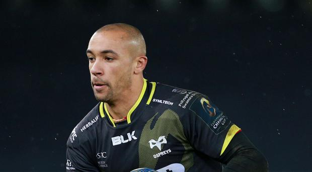 Eli Walker scored two of Ospreys' seven tries