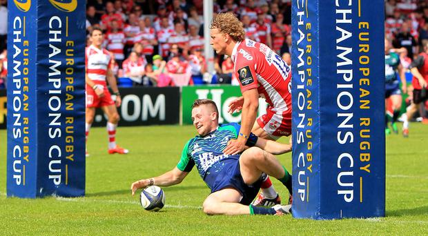 Jack Carty, pictured scoring a try, was among the points for Connacht