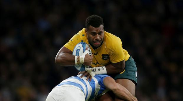 Australia's Samu Kerevi scored two tries against Argentina at Twickenham