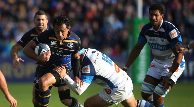 Leinster's captain Isa Nacewa (left) was impressive