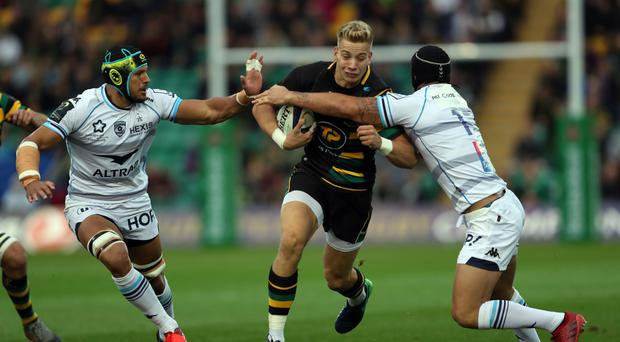 Harry Mallinder helped set-up a try for Northampton team-mate Calum Clark