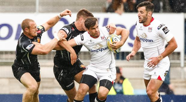Staying on: Louis Ludik has been rewarded for his versatility and sparkling form with a new deal at the Kingspan, which runs until 2020