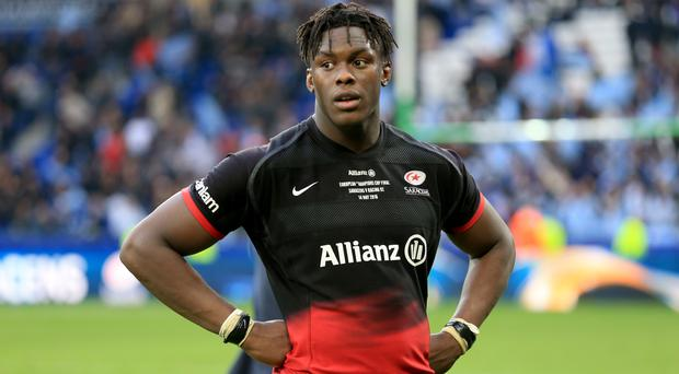 Maro Itoje sustained a hand injury diuring Saracens' victory over the Scarlets