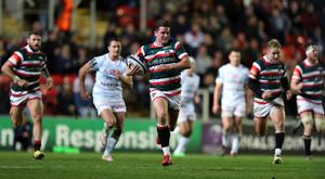 Freddie Burns broke clear to score for Leicester