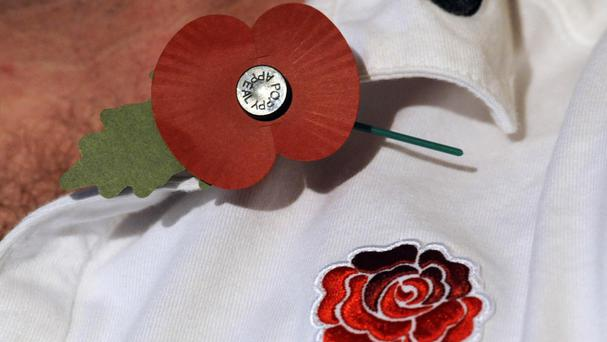 The England rugby team have had no issues wearing poppies