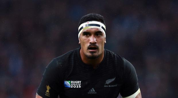 New Zealand's Jerome Kaino is moving into the second row
