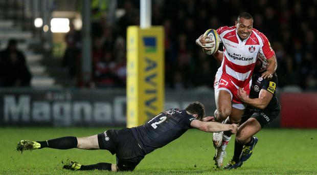Gloucester's David Halaifonua scored a late try against Saracens
