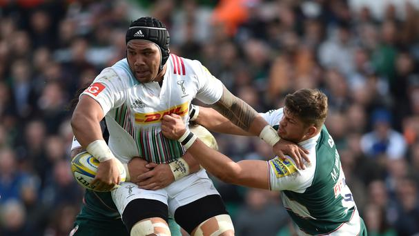 Harlequins' Mat Luamanu (left) has been banned again by the RFU after being hit with a three-week suspension in September