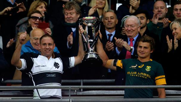 The Barbarians and South Africa shared a 31-31 draw at Wembley on Saturday