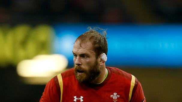Wales' Alun Wyn Jones was man of the match