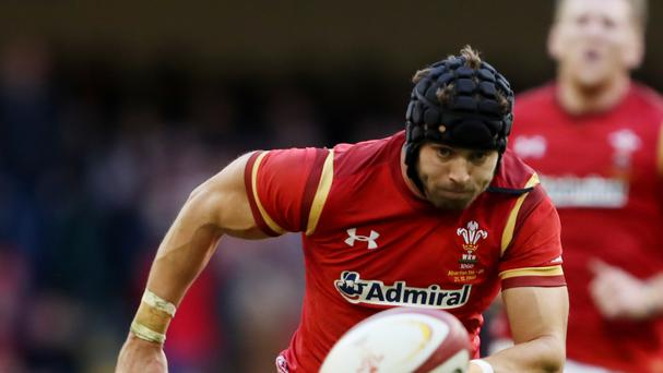 Wales full-back Leigh Halfpenny, pictured, has praised the skills of 18-year-old Ospreys wing Keelan Giles