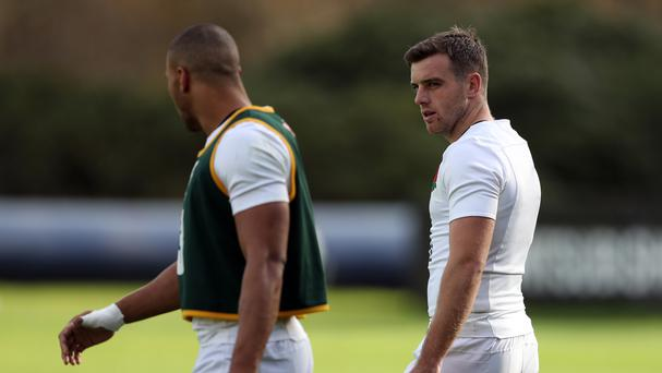 Jonathan Joseph (left) wants George Ford (right) to consider his own priorities when deciding his Bath future