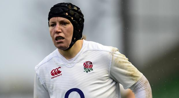 England's Rochelle Clarke has become the most capped player in the women's game