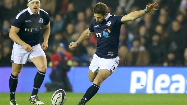 Greig Laidlaw kicked the winning penalty in Scotland's late victory over Argentina