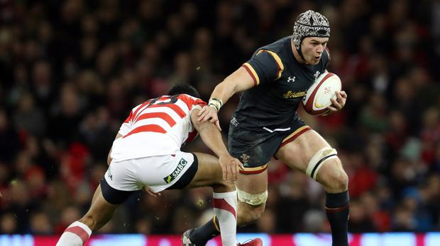 Wales flanker Dan Lydiate scored his first international try in his 59th Wales Test on Saturday