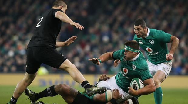 CJ Stander (second from right), Rob Kearney (right) and Simon Zebo are being given as much time as possible to recover from injuries ahead of Saturday's game against Australia
