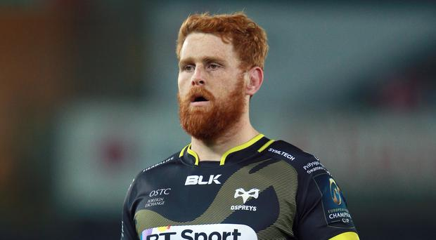 Dan Baker scored a try in a big win for Ospreys